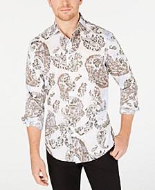 Men's Stretch Chinino Large Paisley Print Shirt