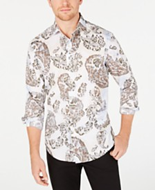 Tasso Elba Men's Chinino Large Paisley Print Shirt
