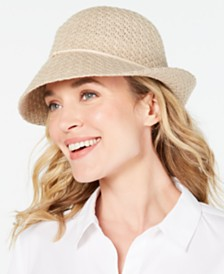 I.N.C. Packable Sparkle Cloche, Created for Macy's