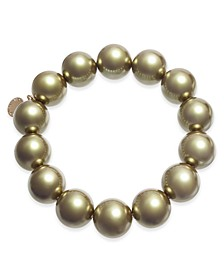 Gold-Tone Imitation Pearl (14mm) Stretch Bracelet, Created for Macy's