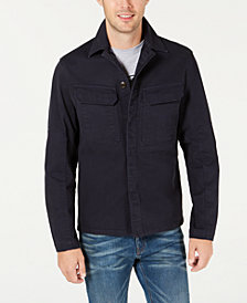 Michael Kors Men's Lightweight Utility Shirt Jacket