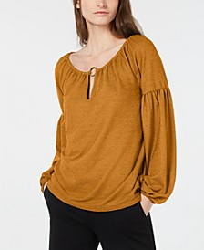 Scoop-Neck Peasant Top