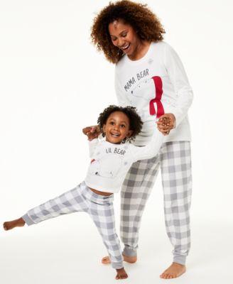 Matching Kids Lil Bear Pajama Set, Created For Macy's