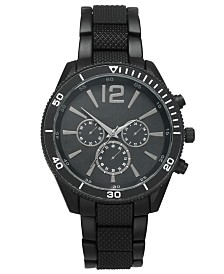 I.N.C. Men's Matte Black Bracelet Watch 48mm, Created For Macy's