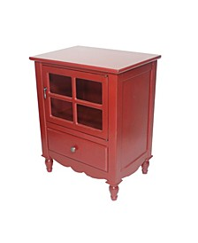 Heather Ann Vivian Small Accent Cabinet with Bottom Drawer