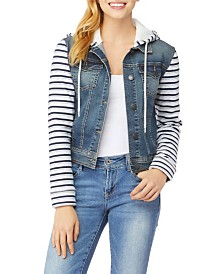 WallFlower Big Girls Denim Two-fer Jacket