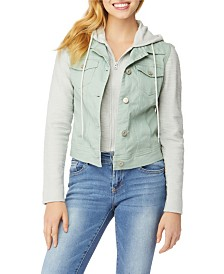 WallFlower Big Girl Twill Two-fer Jacket