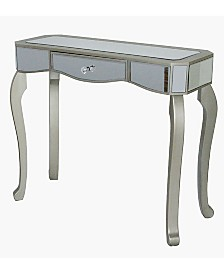 Heather Ann Katrina Mirrored Console Table with Drawer