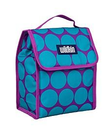 Big Dot Aqua Lunch Bag