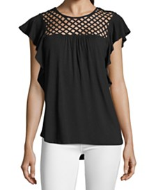 John Paul Richard Flutter-Sleeve Top