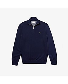 Men's Quarter Zip Cotton Sweater