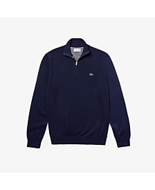 Lacoste Men's Quarter Zip Cotton Sweater