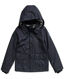 Tommy Hilfiger Adaptive Big Boys Rain Jacket with Velcro® Closure