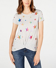 INC Twisted Rainbow-Star T-Shirt, Created for Macy's