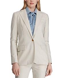 Lauren Ralph Lauren Pinstripe-Print Straight-Fit Blazer
