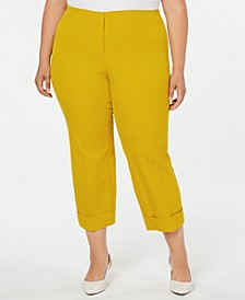 Plus Size Cuffed Ankle Pants, Created for Macy's