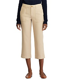 Lauren Ralph Lauren Stretch-Canvas Straight-Leg Pants