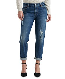 Lucky Brand Sienna Cuffed Boyfriend Jeans