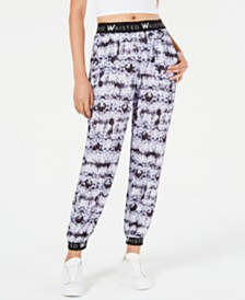 Waisted Tie-Dye Contrast Jogger Pants