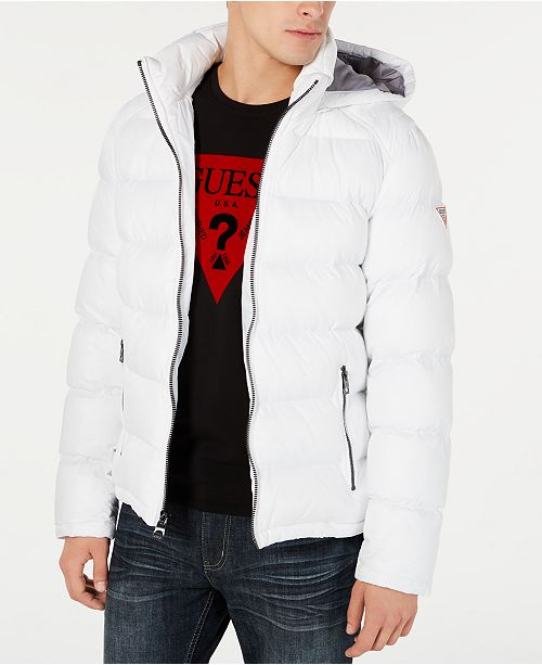 Guess Guess Men's Water Resistant Bomber Jacket White XXL from macys | more
