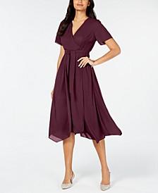 Handkerchief-Hem Wrap Dress, Created for Macy's