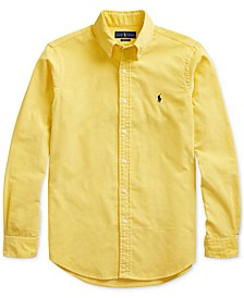 Men's Classic Fit Corduroy Button-Down Shirt