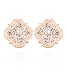 T Tahari Moroccan Metals Clip Button Earrings