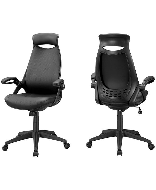 Monarch Specialties Leather Look Office Chair