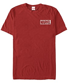 Marvel Men's Comic Collection Pocket Marvel Men's Logo Short Sleeve T-Shirt