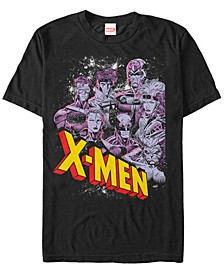Men's Comic Collection Vintage X-Men Team Logo Short Sleeve T-Shirt