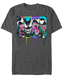 Marvel Men's Comic Collection Venom Neon Dripping Panels Short Sleeve T-Shirt
