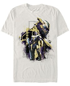 Marvel Men's Avengers Endgame Thanos Posed Profile Short Sleeve T-Shirt