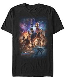 Marvel Men's Avengers Endgame Galaxy Group Shot Poster Short Sleeve T-Shirt