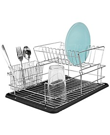 HDS Trading Deluxe 2 Tier Dish Rack