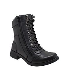 "RideTec Women's 8"" Zipper Biker Boot"