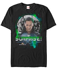 Marvel Men's Ragnarok Loki Surprise Short Sleeve T-Shirt