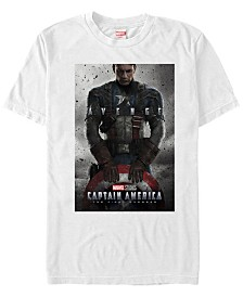 Marvel Men's Captain America The First Avenger Short Sleeve T-Shirt