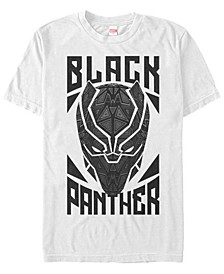Men's Black Panther Geometric Mask, Short Sleeve T-Shirt