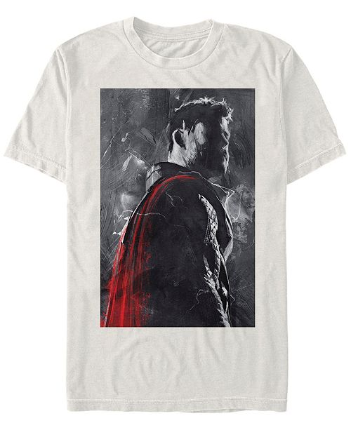 Marvel Men's Avengers Thor Shadowed Silhouette Short Sleeve T-Shirt