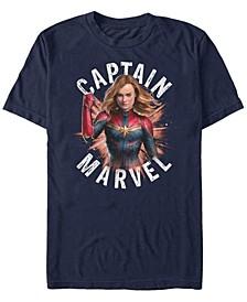 Men's Captain Marvel Strong Stance Short Sleeve T-Shirt