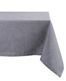 "Solid Chambray Tablecloth 60"" x 84"""