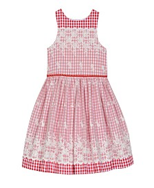 Laura Ashley London Girl's Sleeveless Mixed Fabric Dress