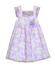Laura Ashley London Girl's Ruffle Sleeve Party Dress