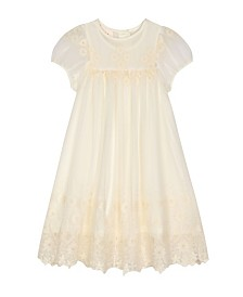 Laura Ashley London Girl's Vintage Style Embroidered Dress