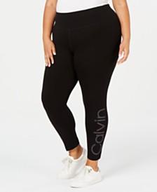 Calvin Klein Plus Size Logo Capri Leggings