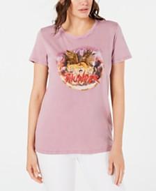 GUESS Juniors' Cotton Beaded Logo T-Shirt