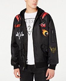 Men's Hooded Patch Jacket