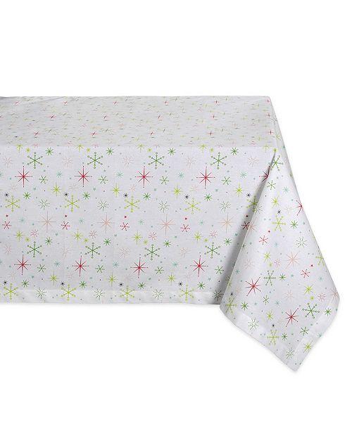 "Design Import Christmas Star Print Table Cloth 60"" x 84"""