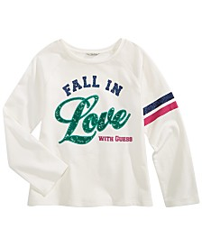 GUESS Big Girls Cotton Fall In Love Embellished Sweatshirt