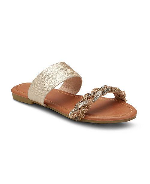 Olivia Miller Twisted Sister Embellished Sandals